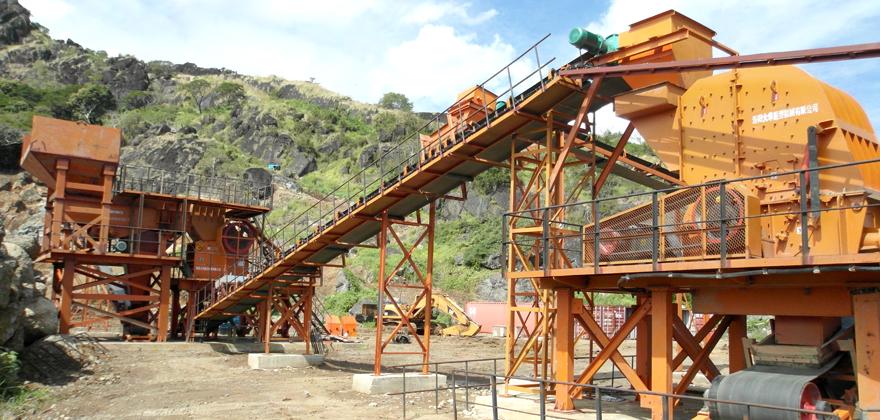 时产500-600吨石灰石/白云岩砂石骨料生产线