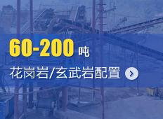 时产60-200吨花岗岩/玄武岩砂石骨料生产线