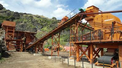 斐济国家公路施工单位建筑用优质砂石骨料生产线