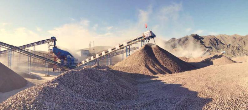 大华重工新疆某大坝砂石料生产线顺利投产