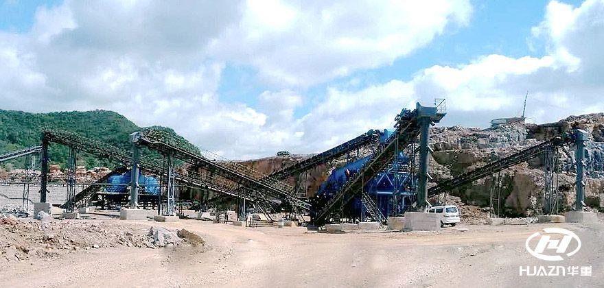 云南石林400吨/小时石灰石、大理石绿色环保砂石生产线