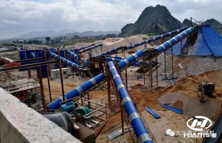 大华重工-南宁横县某石料厂生产线