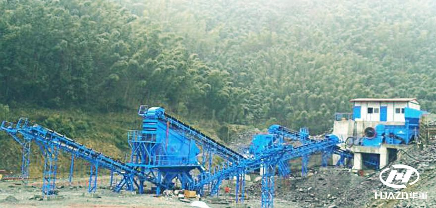 中铁15局杭黄高铁项目2×150t/h砂石骨料生产线