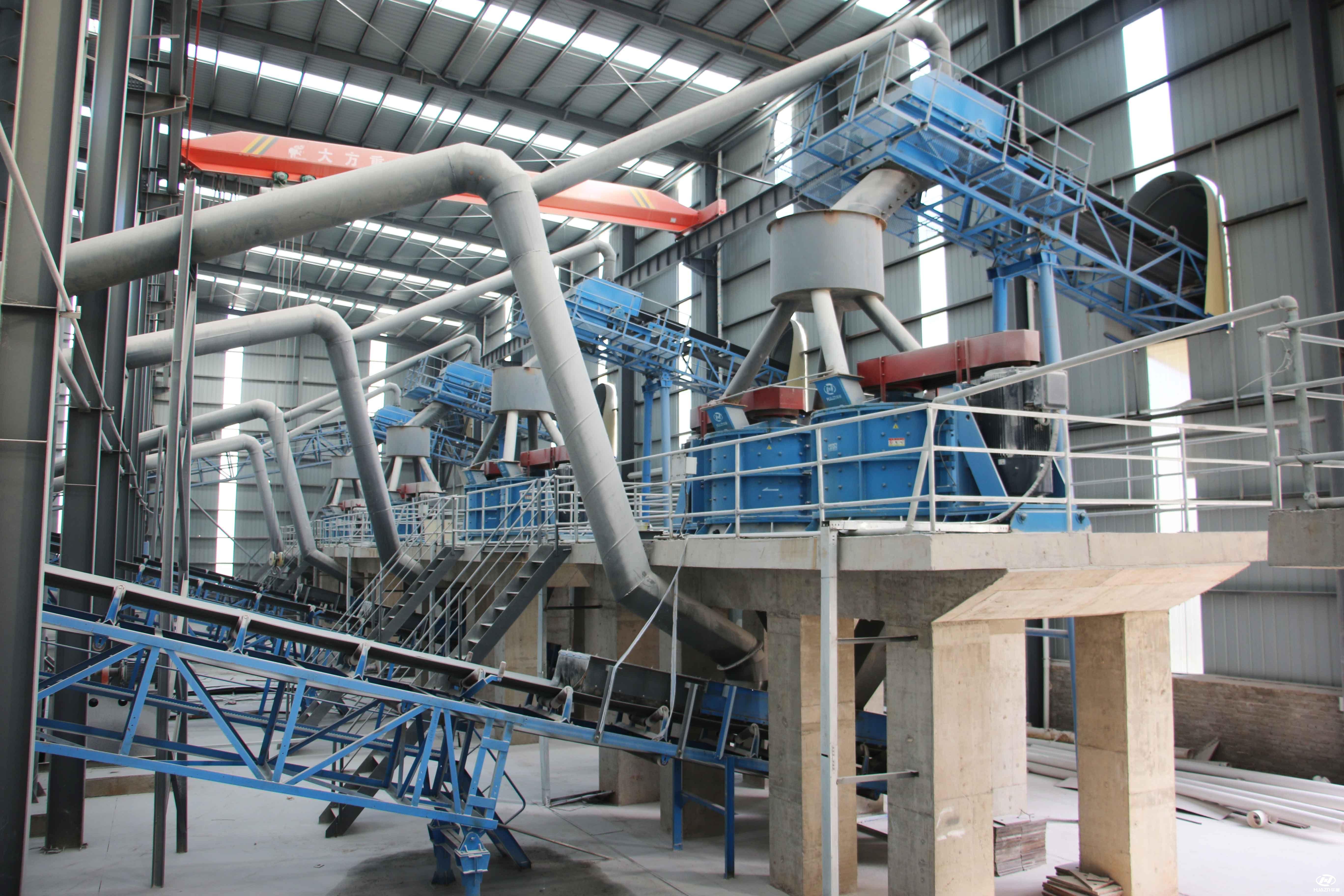 四川蒙自日产2000吨的石灰岩生产线进入投产中