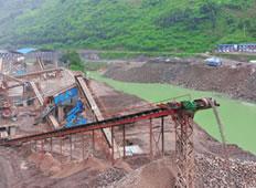 针对水利水电建设使用的成套破碎筛分设备