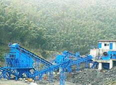 杭黄高铁砂石骨料生产线