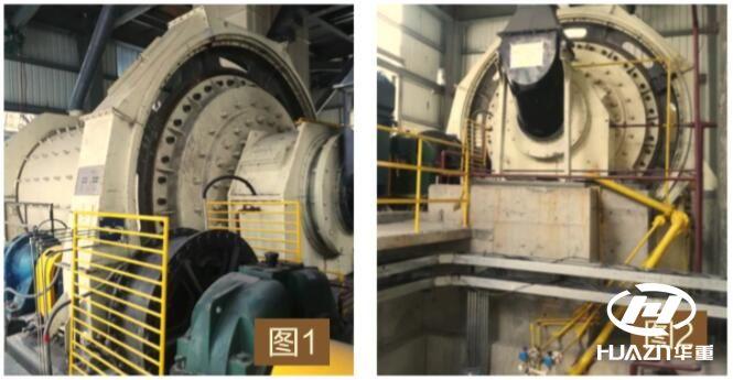 山西某钢厂棒磨机处理石灰石现场图