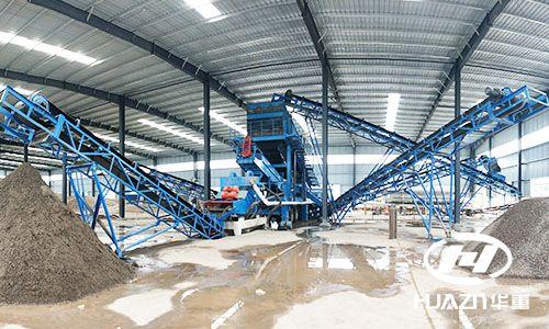 时产150吨的移动破碎站破碎鹅卵石在河南启动