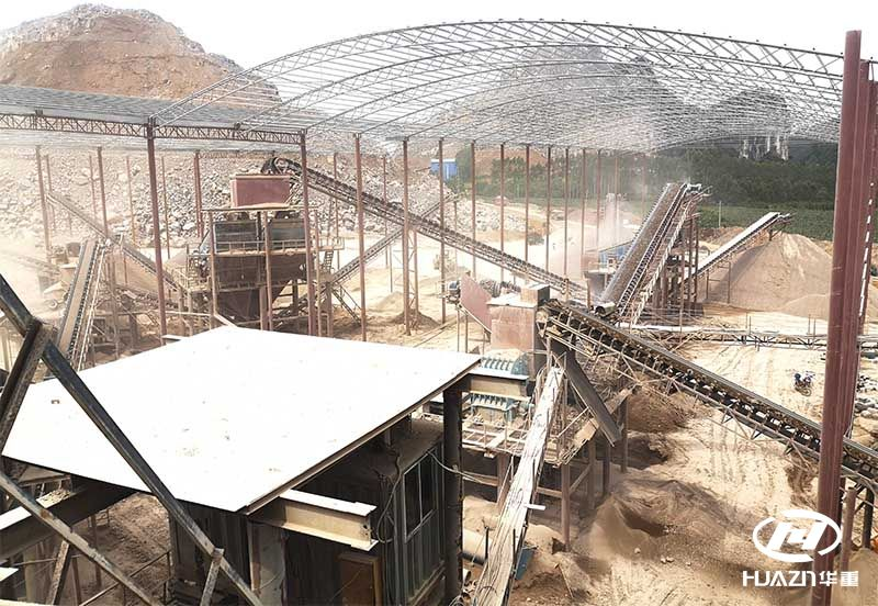 时产量500-1000吨的碎石生产线设备配置
