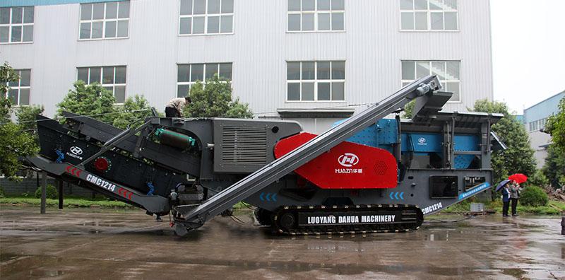 建筑垃圾移动破碎机多组合适用各种破碎现场