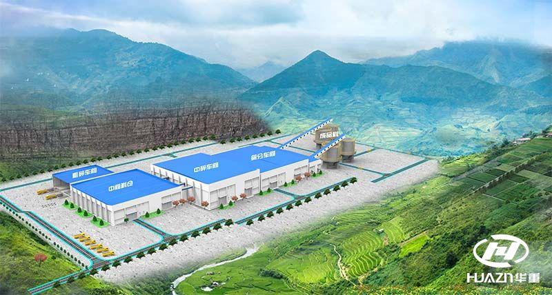 江西九江2000吨/时砂石骨料项目火热建设中
